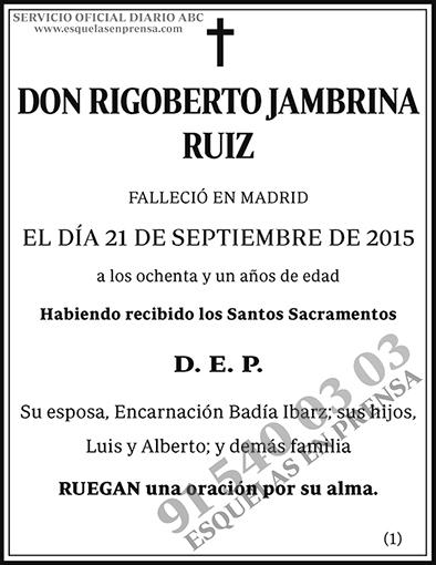 Rigoberto Jambrina Ruiz
